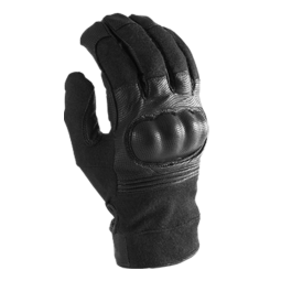 MTP riot glove with protection against fire, trauma, and cut.