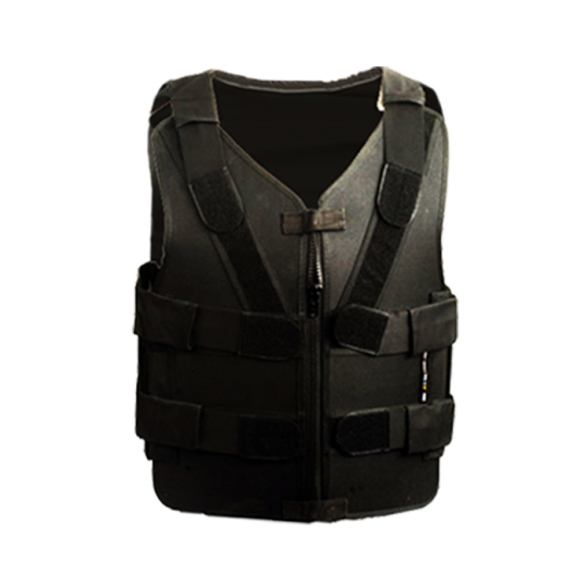 Stab proof zipper vest MTP with aluminum plates