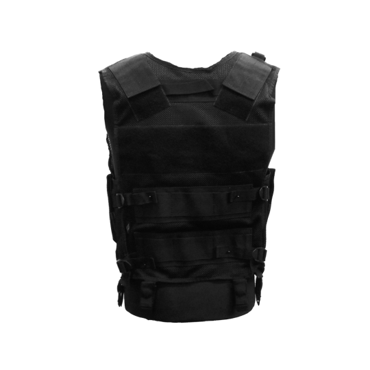 Multi-pocket tactical vest with zipper MTP for outdoor activities (back)
