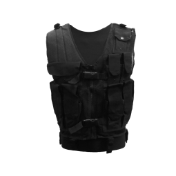 Multi-pocket tactical vest with zipper MTP for outdoor activities