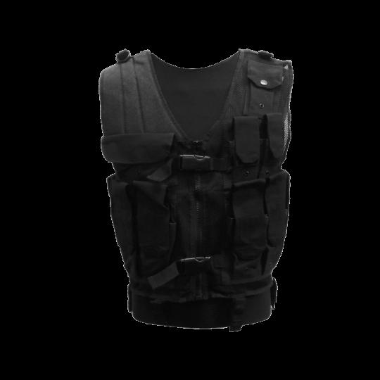Chaleco táctico multi bolsillo con cremallera de MTP