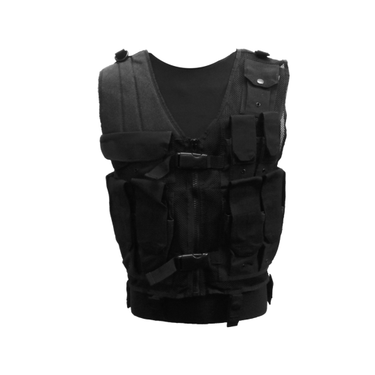 Multi-pocket tactical vest with zipper MTP for outdoor activities