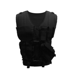 Chaleco táctico multi bolsillo con cremallera y sistema MOLLE