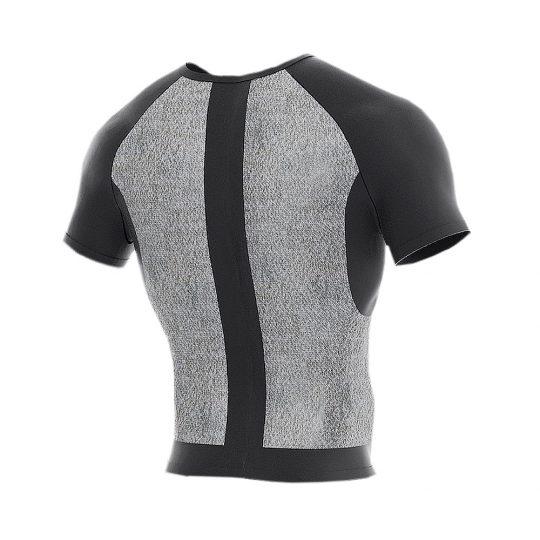 Slash-resistant MTP short sleeve under T-shirt (back)