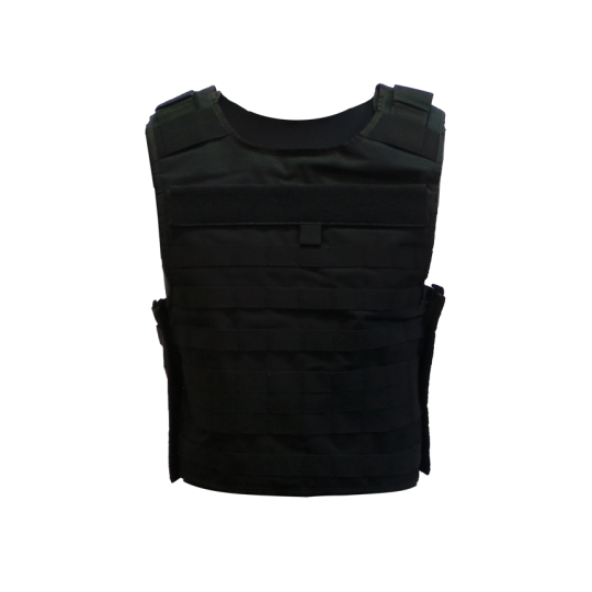 The tactical plate carrier vest with MOLLE system