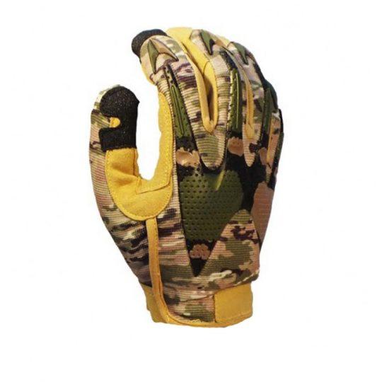 Guantes tácticos para airsoft con protección en nudillos color camuflaje