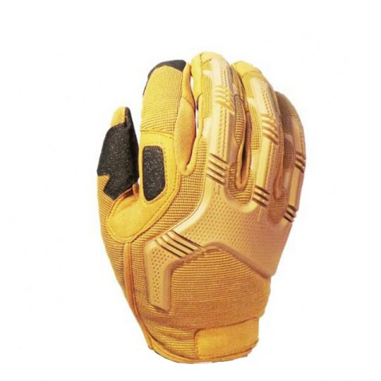 Tactical gloves for airsoft with knuckle protection color sand