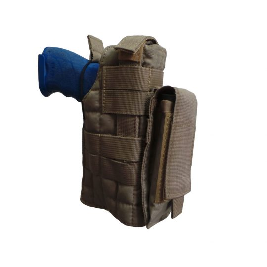 Universal holster with belt adjustment and MOLLE system color sand